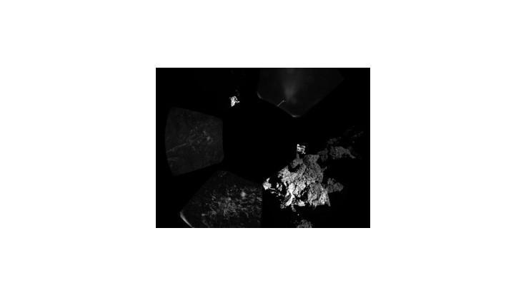 Modul Rosetty vytvoril panorámu okolia, na povrch kométy umiestnil teplomer