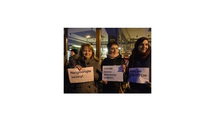 Sestry protestovali proti rozkrádaniu zdravotníctva