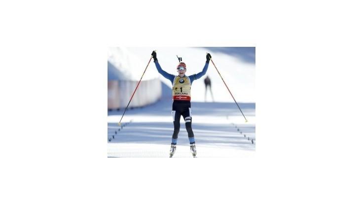 Mäkäräinenová prvýkrát v kariére zvíťazila v