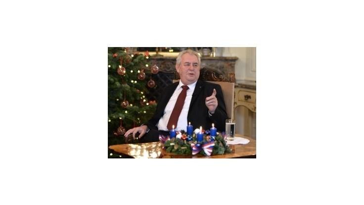 Český prezident Zeman vo vianočnom posolstve hanil svojich kritikov