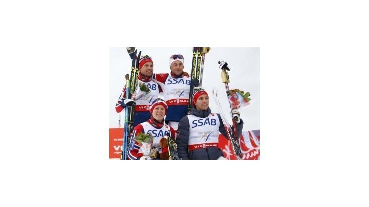 Rekordní Nóri ôsmykrát za sebou ovládli štafetu v behu na lyžiach