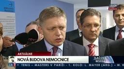 TB R. Fica a R. Kaliňáka k otvoreniu novej budovy nemocnice