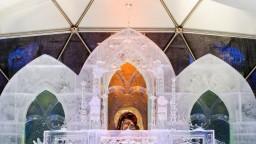 Fotogaléria: V Tatrách otvorili ľadový dóm, je v gotickom štýle