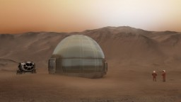 NASA ukázala priesvitné domy pre prvých ľudí na Marse