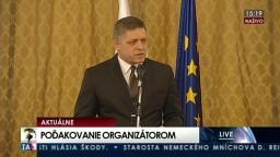 Príhovor R. Fica k realizácii predsedníctva v Rade Európskej únie