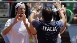 K postupu do štvrťfinále Davis Cupu sú blízko tenisti Talianska