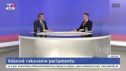 Vášnivé rokovanie parlamentu / Duel I. Matoviča a A. Hlinu / Duel T. Druckera a Š. Harabina / Postavenie a úlohy žien v politike