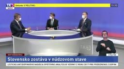 """Slovensko zostáva v núdzovom stave / Štátna pomoc a jej efektivita / """"EÚ ďalšej generácie"""" ako záchrana"""