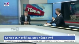 Koniec Dušana Kováčika, predĺženie núdzového stavu