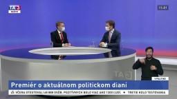 Premiér o aktuálnom politickom dianí / Sociálne problémy a ich riešenia / Spoločenské a politické nálady