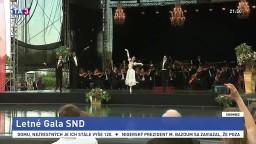 Stretnutie kamarátov po rokoch / Krištáľové krídlo / Nielen o tvorbe pre prezidentku / Spojenie gastronómie a umenia / Letné Gala SND