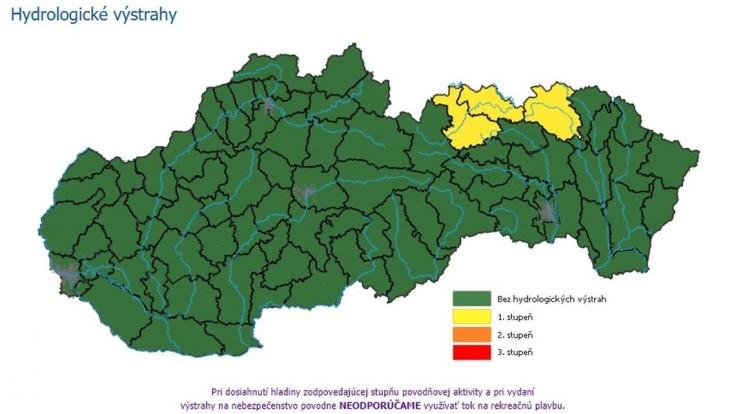 V okresoch Kežmarok a Stará Ľubovňa hrozia prívalové povodne