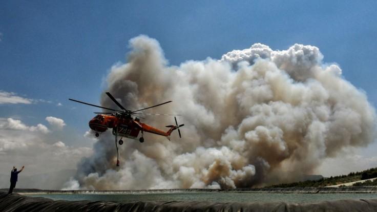 Lesné požiare v Grécku.