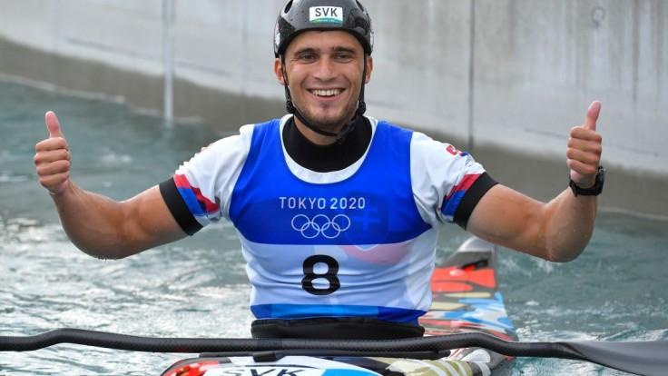 Jakub Grigar po finálovej jazde v K1 na olympiáde v Tokiu.