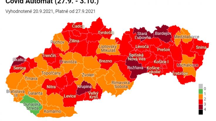 Aktuálne rozdelenie okresov