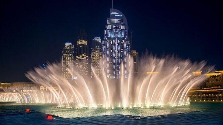 Dubajská fontána.