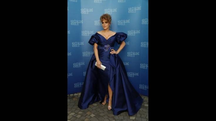 Herečka Karin Haydu na udeľovaní ocenení Krištáľové krídlo.
